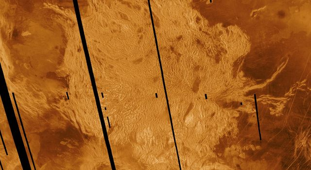 NASA's Magellan radar image shows Alpha Regio, a topographic upland. In 1963 Alpha Regio was the first feature on Venus to be identified from Earth based radar.