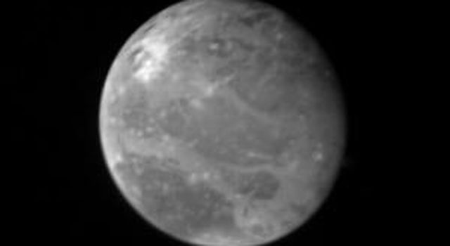 This photo of Ganymede, largest of Jupiter's Galilean satellites and the third from the planet, was taken shortly after midnight March 1, 1979 by NASA's Voyager 1 from a distance of 2.6 million miles (4.2 million kilometers).