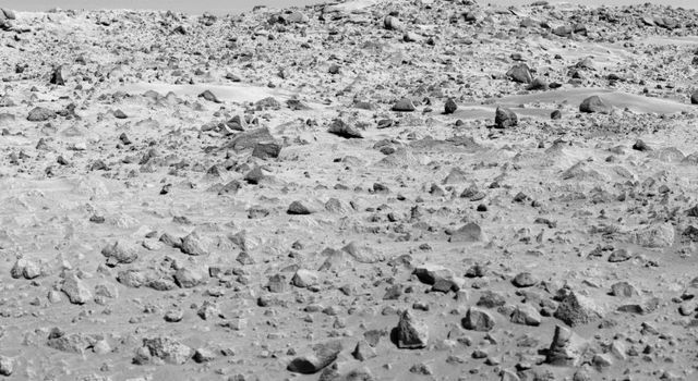 NASA's Viking Lander 1 took this image of Mars' rocky surface.
