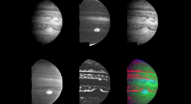 Clouds and hazes at various altitudes within the dynamic Jovian atmosphere are revealed by multi-color imaging taken during the second orbit (G2) on September 5, 1996 by Galileo spacecraft.
