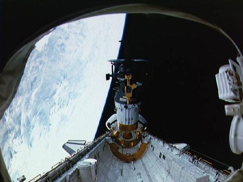 Space Images | Deployment of Galileo and the IUS