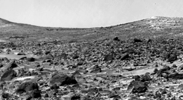 The Twin Peaks are modest-size hills to the southwest of the Mars Pathfinder landing site. They were discovered on the first panoramas taken by NASA's IMP camera on the 4th of July, 1997. Sol 1 began on July 4, 1997.