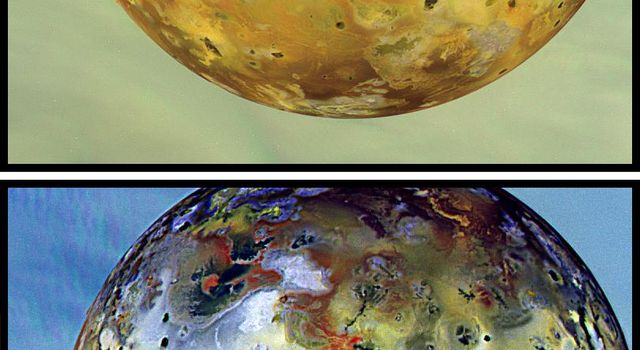 Global view of Jupiter's volcanic moon Io, obtained on Sept. 7,1996 by NASA's Galileo spacecraft.