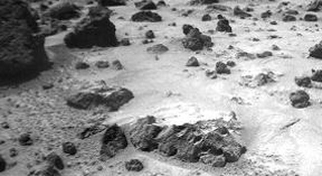 NASA's Sojourner observations in the Ares region on Mars raise and answer questions about the origins of the rocks and other deposits found there. Deposits are not the same everywhere. Sol 1 began on July 4, 1997.