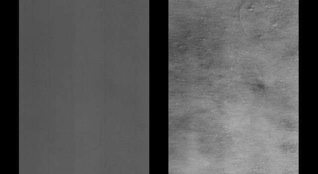 This image of Coprates Catena was obtained in the early evening of January 1, 1998 by NASA's Mars Global Surveyor. The image covers a tiny fraction of the Valles Marineris canyons.