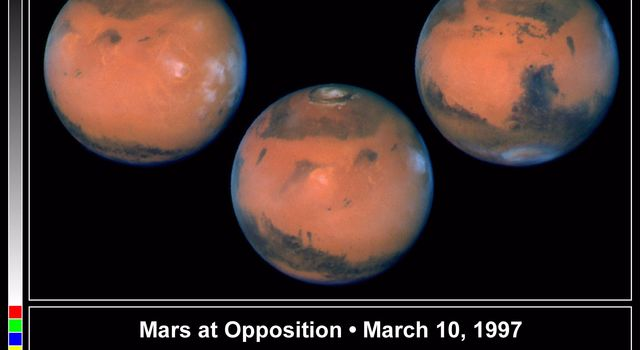Pictures of the planet Mars taken with the recently refurbished NASA Hubble Space Telescope will provide the most detailed global view of the red planet ever obtained from Earth. The images were taken by HST's Wide Field Planetary Camera-2.