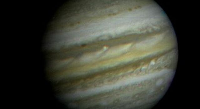 NASA's Voyager 1 took this picture of the planet Jupiter on Jan. 6, 1979, the first in its three-month-long, close-up investigation of the largest planet.
