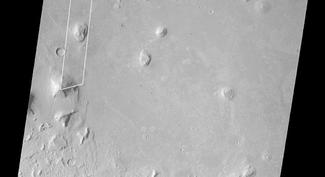 NASA's Mars Global Surveyor acquired this image on April 6, 1998. Shown here is the 'Face on Mars' feature in the Cydonia region.