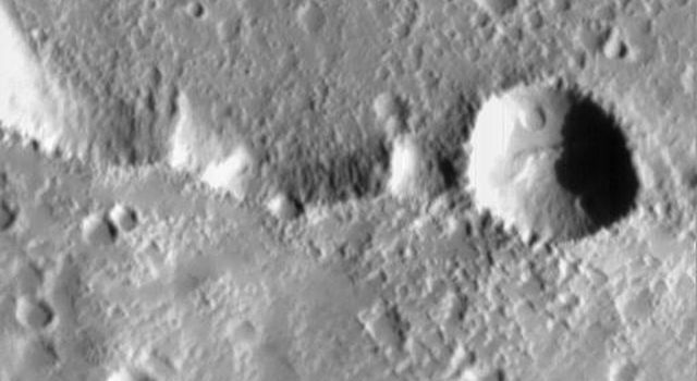 NASA's Mars Global Surveyor acquired this image on July 4, 1998. Shown here is Elysium Mons, one of three large volcanoes that occur on the Elysium Rise.