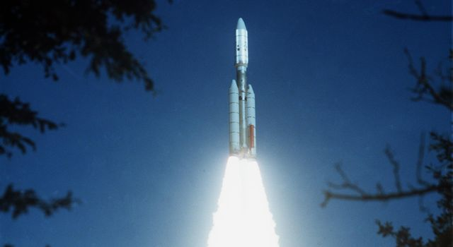 NASA's Voyager 2 was launched on Aug. 20, 1977 from the NASA Kennedy Space Center at Cape Canaveral in Florida where it was propelled into space on a Titan/Centaur rocket.