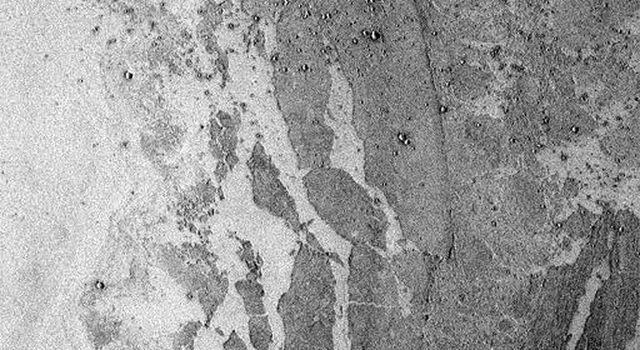 On June 25, 1998, NASA's Mars Global Surveyor captured a portion of Marte Vallis, thought by some to have been carved by a giant water flood.