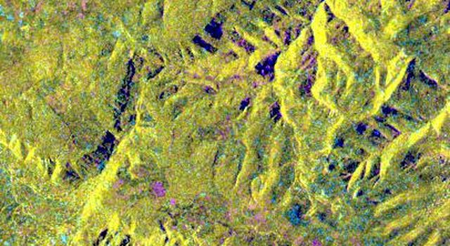 This is an X-band seasonal image from NASA's Spaceborne Imaging Radar-C/X-band Synthetic Aperture Radar  of the central part of Lozere Departement situated south of the Massif Central in France.