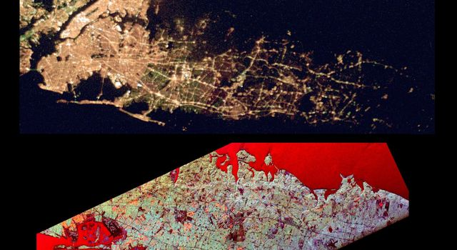 Space Radar Image of Long Island Optical/Radar