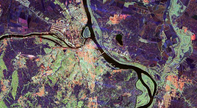 Space Radar Image of Belgrade, Serbia