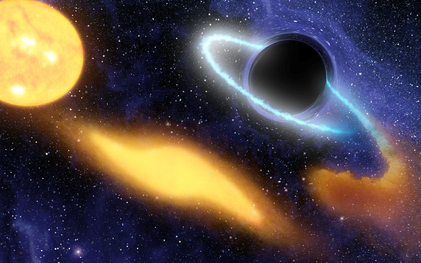 Space Images Black Hole Grabs Starry Snack Artist Concept