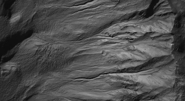 Sharp View of Gullies in Southern Winter