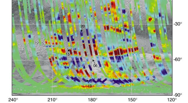 Magnetic Strips Preserve Record of Ancient Mars