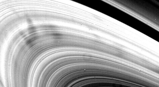 NASA's Voyager 2 obtained this high-resolution picture of Saturn's rings Aug. 22, when the spacecraft was 4 million kilometers (2.5 million miles) away.