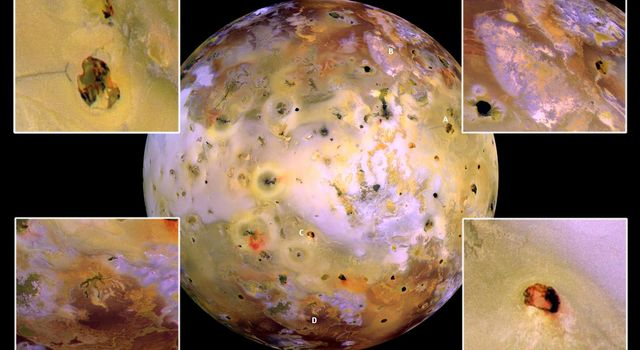 NASA's Galileo spacecraft acquired its highest resolution images of Jupiter's volcanic moon Io on July 3, 1999 during its closest pass by Io since it entered orbit around Jupiter in December 1995.