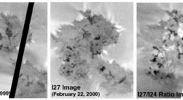 These images illustrate just how quickly the surface of Io is changing. The image on the left shows lava flows from the volcano Prometheus as seen by NASA's Galileo spacecraft on October 11, 1999 on its 24th orbit (I24).