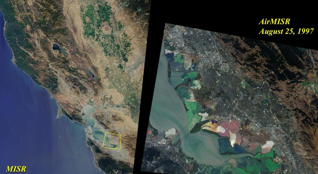 This image acquired on August 17, 2000 during Terra orbit 3545 shows Northern California and San Francisco Bay.
