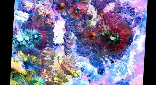 This image NASA's Terra satellite is of the Andes along the Chile-Bolivia border. This image is from NASA's Terra satellite.