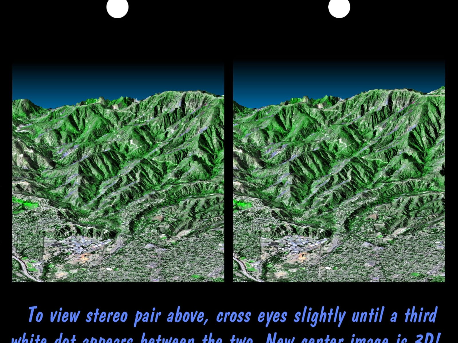 Space Images Stereo Pair Pasadena California