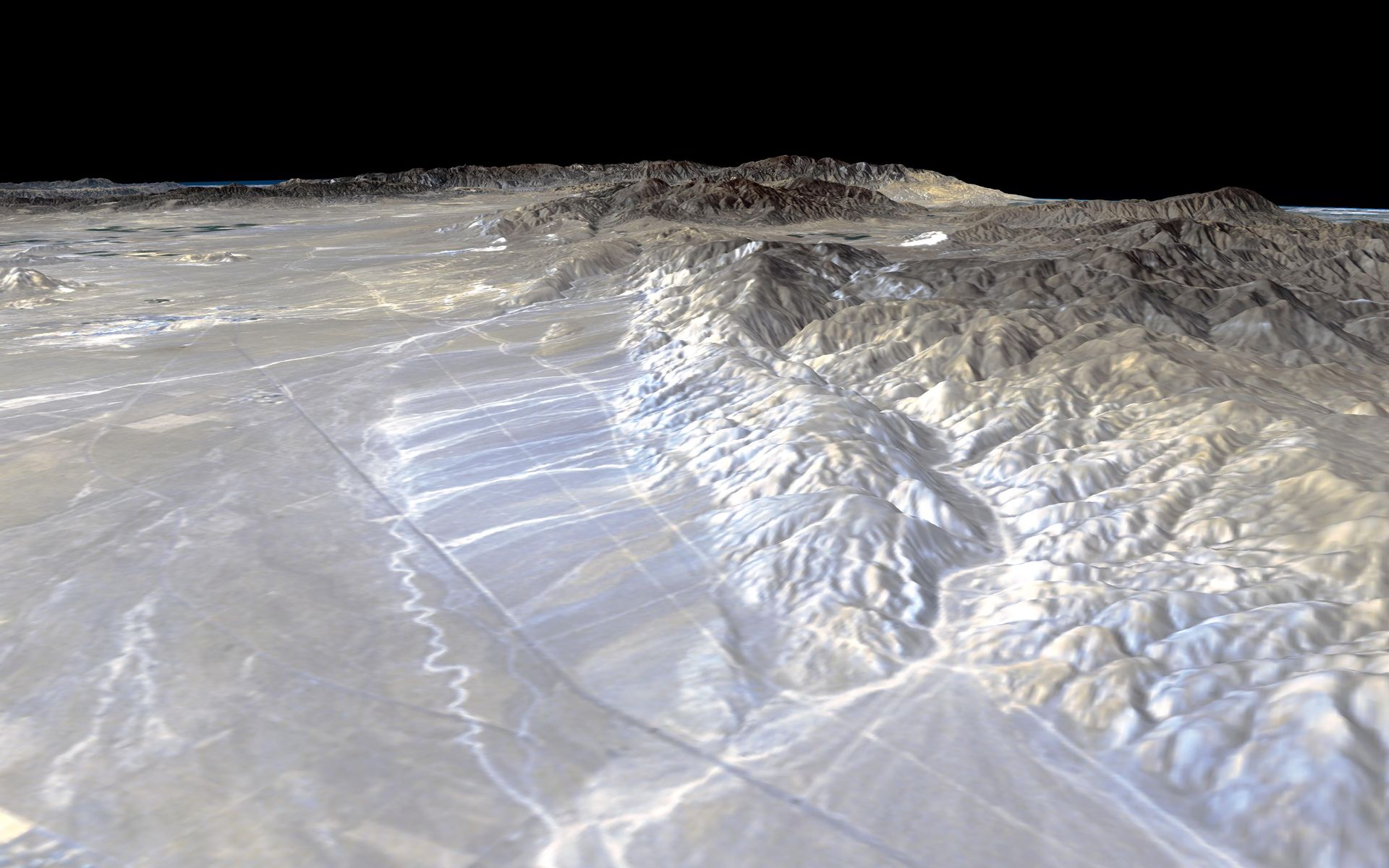 Space Images | Perspective View, Garlock Fault