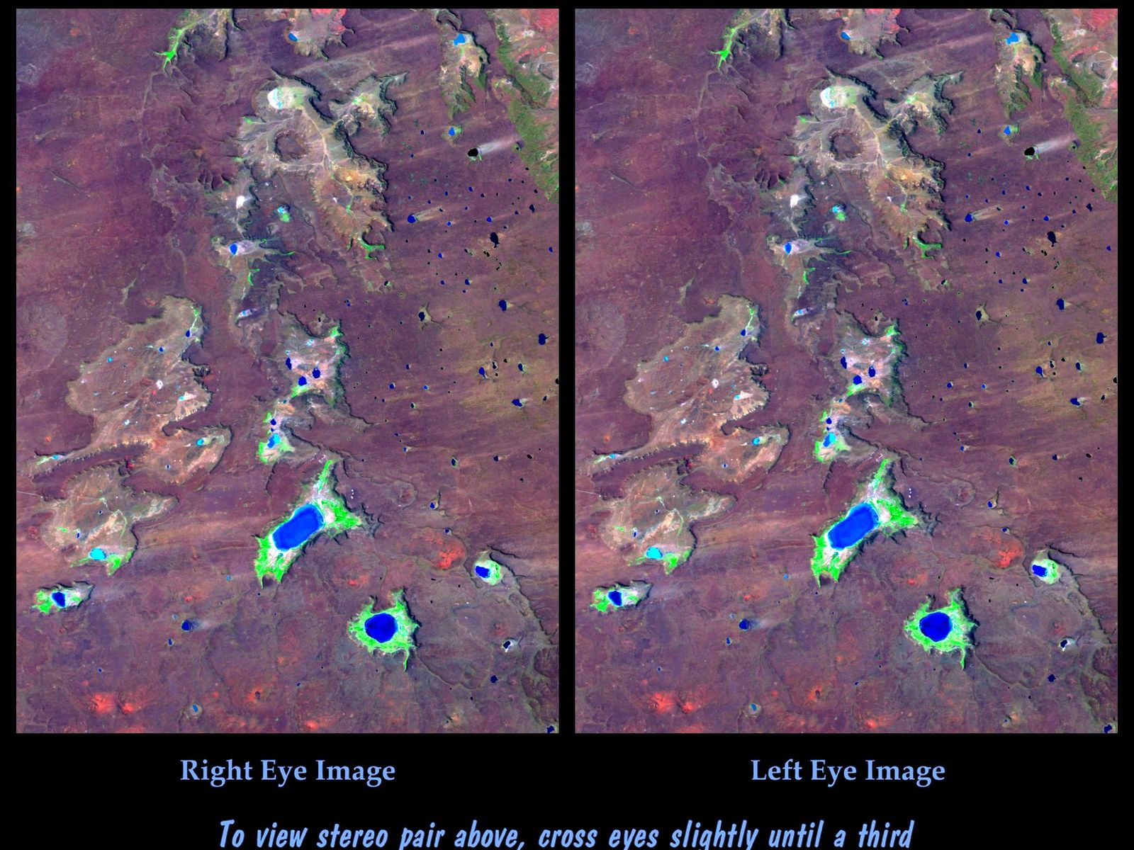 Space Images Srtm Stereo Pair Meseta De Somuncura Patagonia Argentina