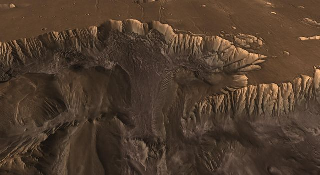 Flying through the canyons and over the ridges of Valles Marineris, viewers can experience some of the thrills that gripped explorers who pushed into unknown regions on Earth as seen by NASA's 2001 Mars Odyssey.