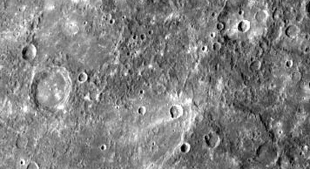 Small Craters Engulfed by Smooth Plains