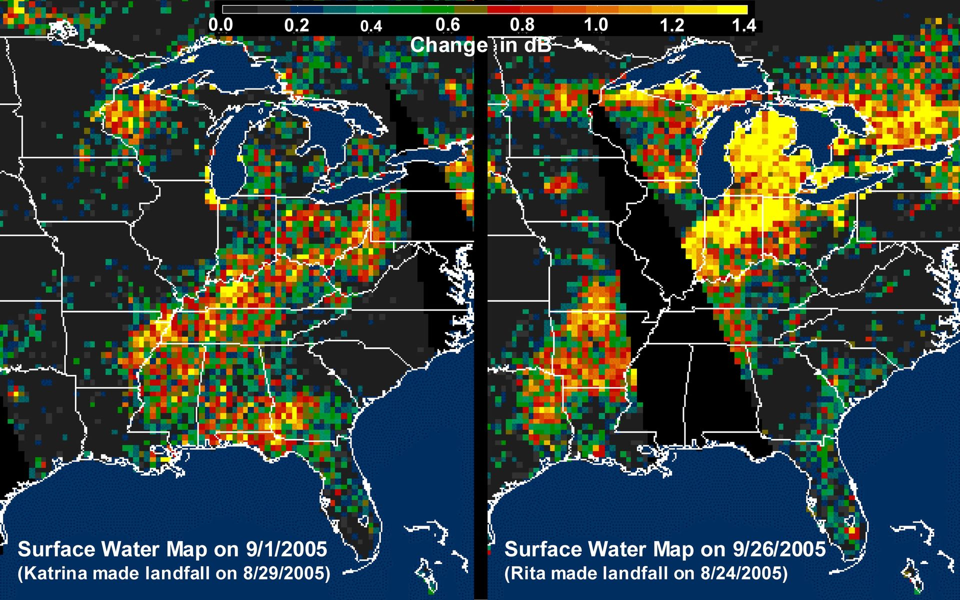 Space Images | Distribution Patterns of LandSurface Water ...