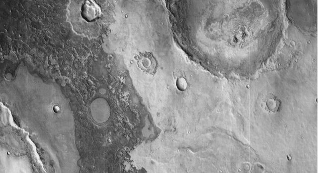 Infrared imaging from NASA's Mars Odyssey spacecraft shows signs of layering exposed at the surface in a region of Mars called Terra Meridiani.