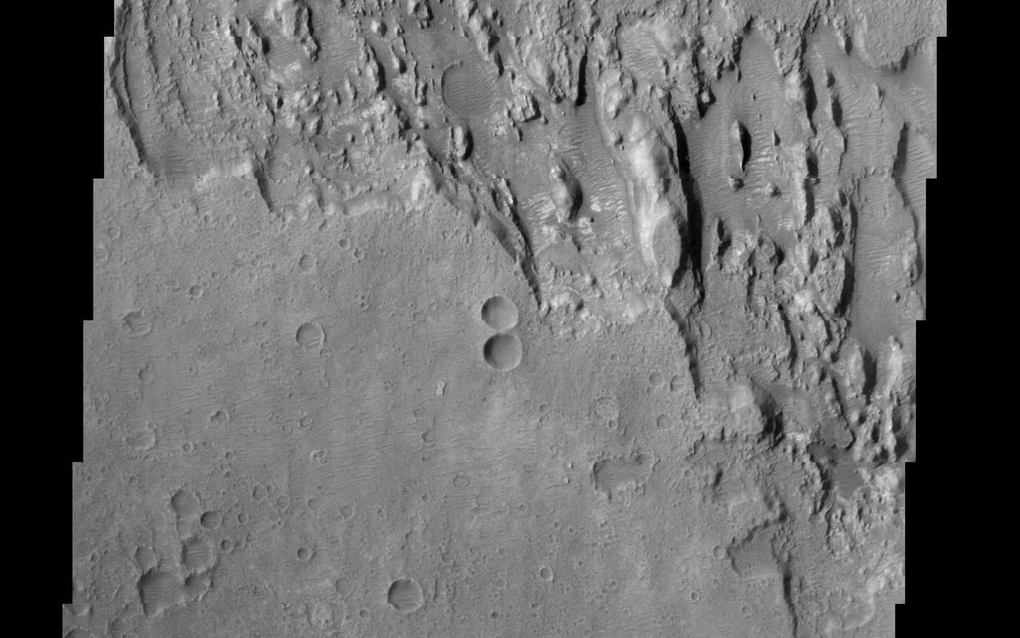 Space Images | Mars Surface Layers in Infrared