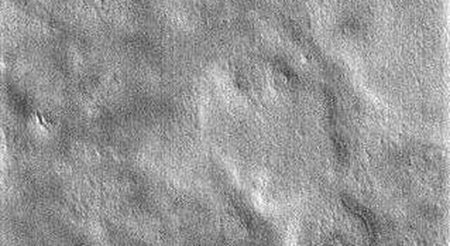 This portion of NASA Mars Odyssey image covers NASA's Viking 2 landing site (shown with the X). The second landing on Mars took place September 3, 1976 in Utopia Planitia.