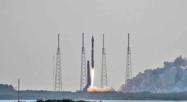 NASA's Mars Reconnaissance Orbiter (MRO) launched at 7:43 a.m. EDT atop a Lockheed Martin Atlas V rocket from Launch Complex 41 at Cape Canaveral Air Force Station in Florida on Aug. 12, 2005.