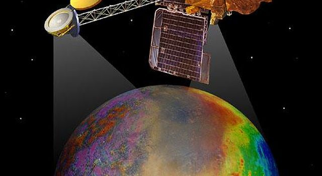 Artist's concept of Mars Odyssey mapping mission.