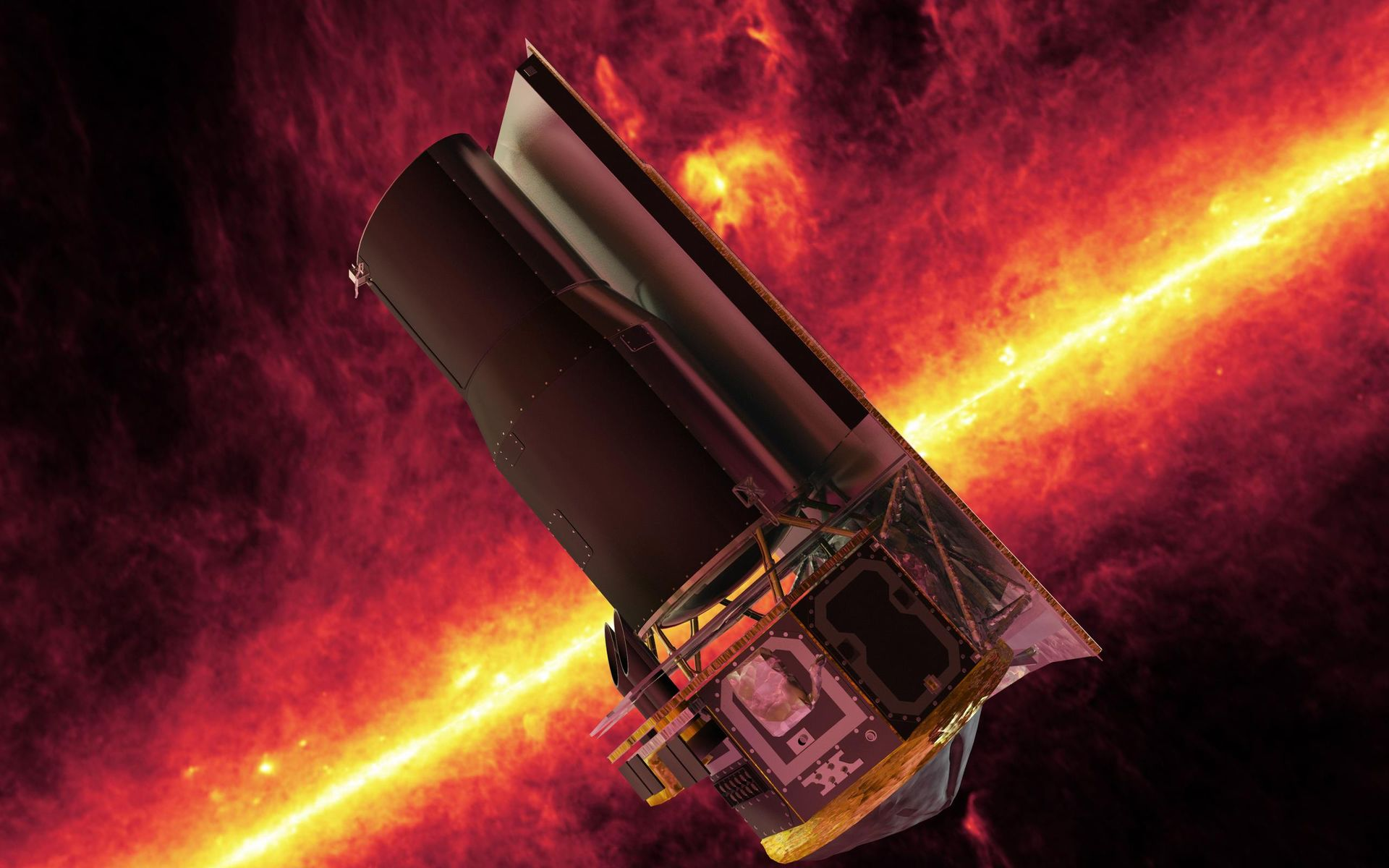 the spitzer space telescope If nasa scientists were more accurate, spitzer would've died years ago more than a decade after its launch, the infrared space telescope still captures and transmits beautiful data about the cosmos but good things must come to an end and spitzer's deep space gaze is no different last week, on the.