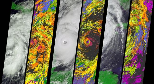 NASA's Terra spacecraft acquired this sequence of images and cloud-top height observations for Hurricane Wilma as it progressed across the Caribbean in October 2005.