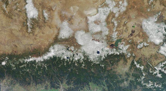 Oregon, California is shown in this MISR Mystery Quiz #23 captured by NASA's Terra spacecraft.