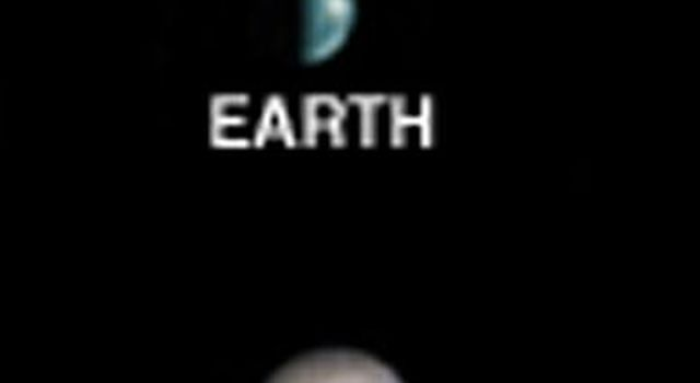 Earth, Moon, and Jupiter, as seen from Mars