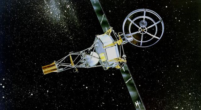 NASA's Mariner 2 was the world's first successful interplanetary spacecraft. Launched August 27, 1962, on an Atlas-Agena rocket, Mariner 2 passed within about 34,000 kilometers (21,000 miles) of Venus.