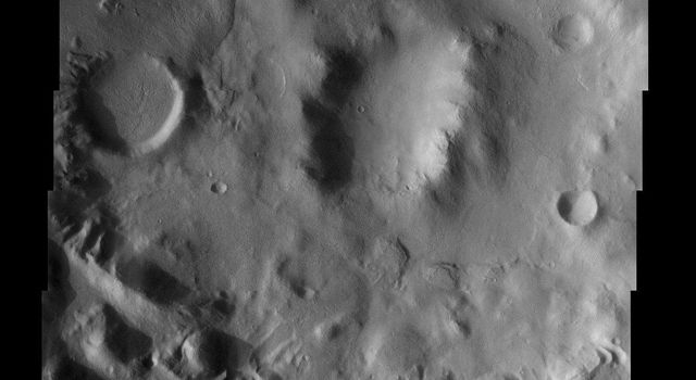 NASA's Mars Odyssey spacecraft captured this image in July 2003, showing valley networks, a relatively common feature in the southern highlands of Mars.