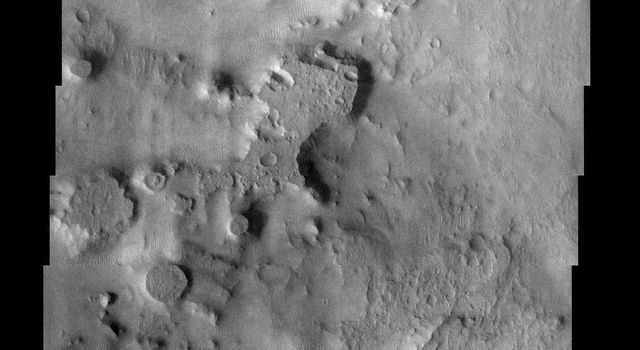 NASA's Mars Odyssey spacecraft captured this image in August 2003, showing an area not too far south of Meridiani where the mineral hematite was found on the Martian surface.