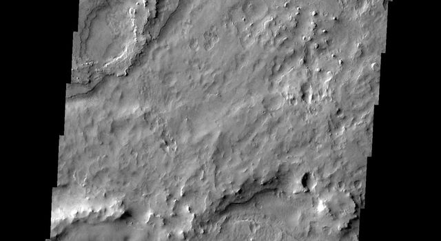 This image from NASA's 2001 Mars Odyssey released on Jan 28, 2004 shows Meridiani Planum on Mars.