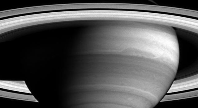 As NASA's Cassini nears its rendezvous with Saturn, new detail in the banded clouds of the planet's atmosphere are becoming visible.