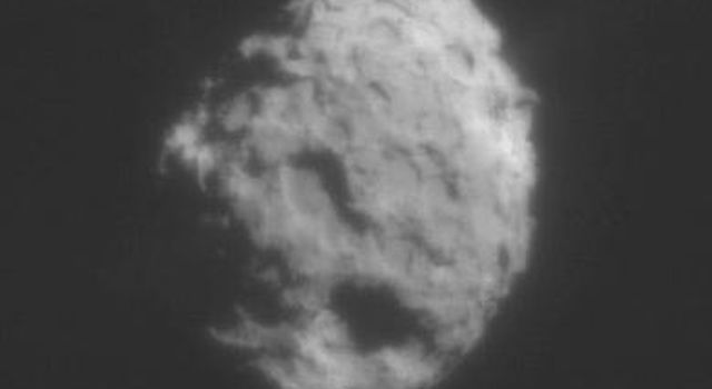On January 2, 2004 NASA's Stardust spacecraft made a close flyby of comet Wild 2 showing faint jets emanating from the surface. Comet Wild 2 is about five kilometers (3.1 miles) in diameter.
