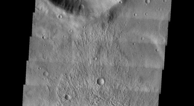 This image from NASA's 2001 Mars Odyssey released on April 23, 2004 shows craters in the Noachis Terra Region in the southern hemisphere of Mars.