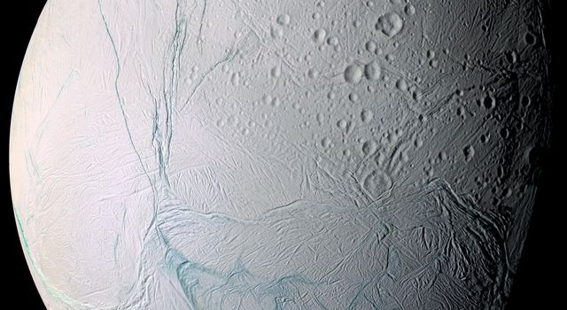 As it swooped past the south pole of Saturn's moon Enceladus on July 14, 2005, NASA's Cassini spacecraft acquired increasingly high-resolution views of this puzzling ice world.