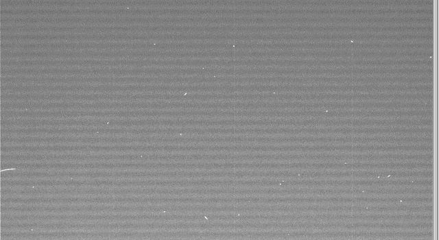 NASA's Cassini spacecraft snapped this image of the European Space Agency's Huygens probe about 12 hours after its release from the orbiter.